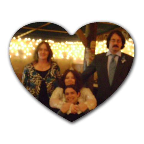 Wedding By Clarisa Stewart   Heart Mousepad   208d2mmsm7fg   Www Artscow Com Front