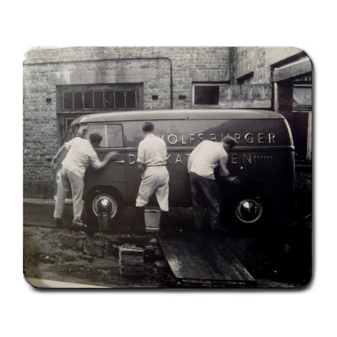 Early 50 s Vw Van By Gary Smith   Large Mousepad   Jg4vrfwu7bmp   Www Artscow Com Front