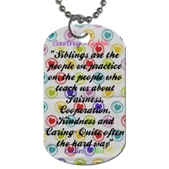 Siblings By Courtney Adkins   Dog Tag (two Sides)   Gi3hsgote6l8   Www Artscow Com Back