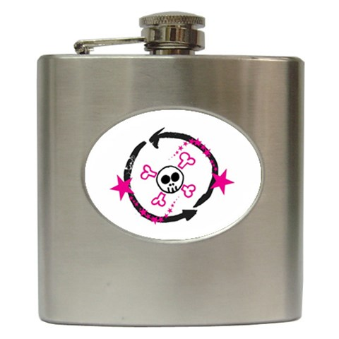 By Steph   Hip Flask (6 Oz)   Brvim2e224tm   Www Artscow Com Front