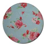 Old Rose Chintz - Round Mousepad