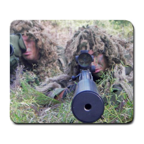 Sniper By Gino Azzaretto   Large Mousepad   10p4hb78dees   Www Artscow Com Front