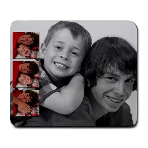 My Boys By Brandy Leathers   Large Mousepad   Qygjv2tcbnzc   Www Artscow Com Front