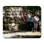 Smokey Mountains Vacation  - Large Mousepad