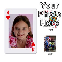Grandkids Playing Cards By Kathy Rayhons   Playing Cards 54 Designs   F4o6p7nstq3k   Www Artscow Com Front - Heart4