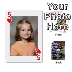 Grandkids Playing Cards By Kathy Rayhons   Playing Cards 54 Designs   F4o6p7nstq3k   Www Artscow Com Front - Heart5