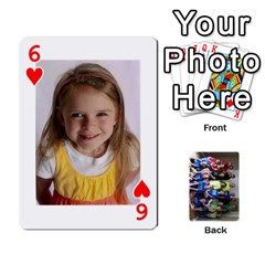 Grandkids Playing Cards By Kathy Rayhons   Playing Cards 54 Designs   F4o6p7nstq3k   Www Artscow Com Front - Heart6