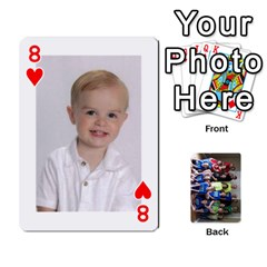 Grandkids Playing Cards By Kathy Rayhons   Playing Cards 54 Designs   F4o6p7nstq3k   Www Artscow Com Front - Heart8