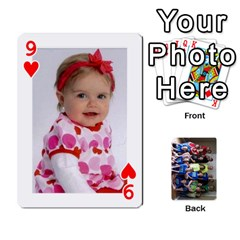 Grandkids Playing Cards By Kathy Rayhons   Playing Cards 54 Designs   F4o6p7nstq3k   Www Artscow Com Front - Heart9
