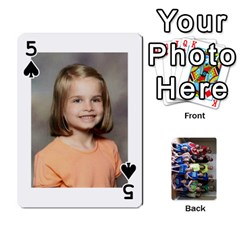 Grandkids Playing Cards By Kathy Rayhons   Playing Cards 54 Designs   F4o6p7nstq3k   Www Artscow Com Front - Spade5