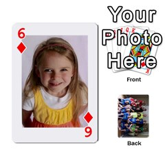Grandkids Playing Cards By Kathy Rayhons   Playing Cards 54 Designs   F4o6p7nstq3k   Www Artscow Com Front - Diamond6