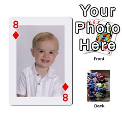 Grandkids Playing Cards By Kathy Rayhons   Playing Cards 54 Designs   F4o6p7nstq3k   Www Artscow Com Front - Diamond8