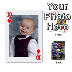 Grandkids Playing Cards By Kathy Rayhons   Playing Cards 54 Designs   F4o6p7nstq3k   Www Artscow Com Front - Diamond10