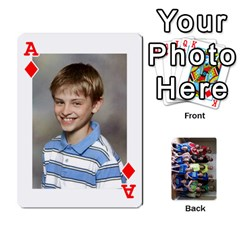 Ace Grandkids Playing Cards By Kathy Rayhons   Playing Cards 54 Designs   F4o6p7nstq3k   Www Artscow Com Front - DiamondA