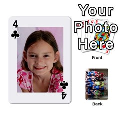 Grandkids Playing Cards By Kathy Rayhons   Playing Cards 54 Designs   F4o6p7nstq3k   Www Artscow Com Front - Club4