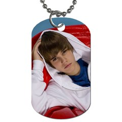 Justin Beiber By Micaela   Dog Tag (two Sides)   7n83h7osubd5   Www Artscow Com Front