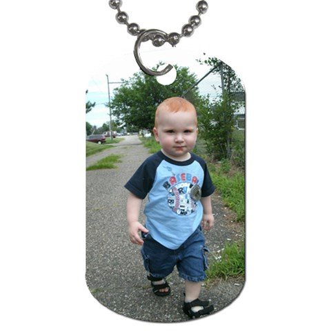 Dogtag Of Our Timmy Walking! By Ashley Davis   Dog Tag (one Side)   Gyv96llrkota   Www Artscow Com Front