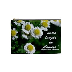 Flower Cos Bag By Jennifer Lee   Cosmetic Bag (medium)   N4qb4130mdf2   Www Artscow Com Front