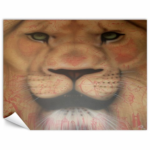 Lion By Ashleigh Connelly   Canvas 18  X 24    I4xwolpcz7vh   Www Artscow Com 24 x18 Canvas - 1