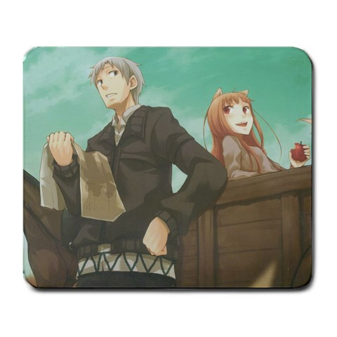Spice And Wolf By Awe Sum Kun   Large Mousepad   5w0fxi67xi8c   Www Artscow Com Front