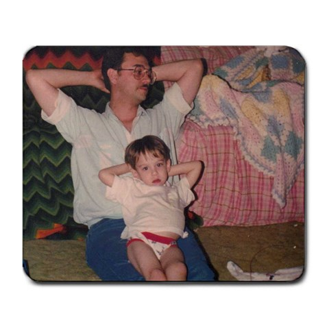 Me And Dad! By Damien Davis   Large Mousepad   9kootlrloyng   Www Artscow Com Front