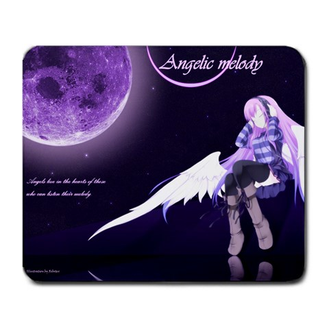 Angelic Melody By Robotex   Large Mousepad   M2fnipo7amg7   Www Artscow Com Front