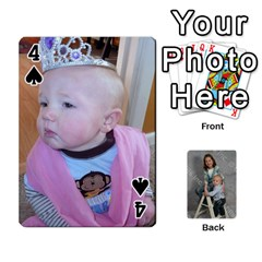 Personalized Playing Cards By Jennfer   Playing Cards 54 Designs   4jfw9h1dxy1p   Www Artscow Com Front - Spade4