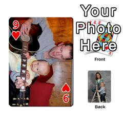 Personalized Playing Cards By Jennfer   Playing Cards 54 Designs   4jfw9h1dxy1p   Www Artscow Com Front - Heart9