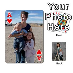 Ace Personalized Playing Cards By Jennfer   Playing Cards 54 Designs   4jfw9h1dxy1p   Www Artscow Com Front - HeartA
