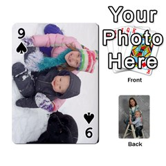 Personalized Playing Cards By Jennfer   Playing Cards 54 Designs   4jfw9h1dxy1p   Www Artscow Com Front - Spade9