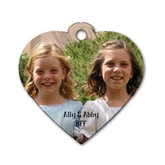 Ally&abby By Lisa   Dog Tag Heart (two Sides)   Gpp8rf5kdrot   Www Artscow Com Front