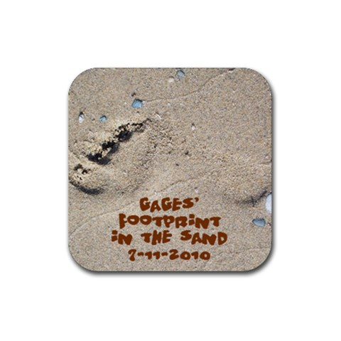 Gage Coaster 2 By Lori Doyle   Rubber Coaster (square)   Tyv5s1t4d446   Www Artscow Com Front