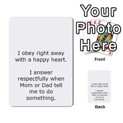 Character And Reward Cards By Brenda   Multi Purpose Cards (rectangle)   9hozjm5zk358   Www Artscow Com Back 43