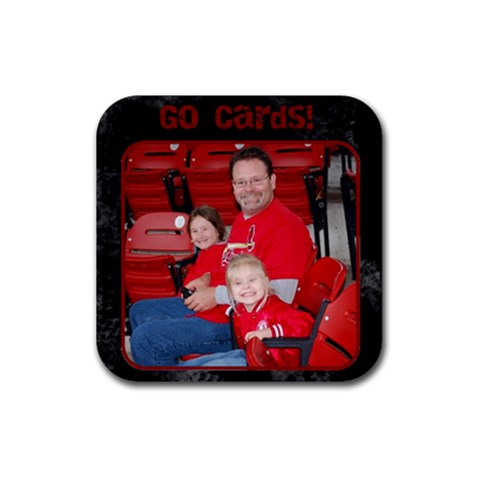 Cards Coaster By Tracy Peterman   Rubber Coaster (square)   Uxu6a0l2667z   Www Artscow Com Front