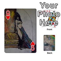 Queen Dad s Cards By Jessica   Playing Cards 54 Designs   Ykwvnljic44l   Www Artscow Com Front - HeartQ