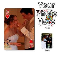 Jack Wedding Cards  By Lisa   Playing Cards 54 Designs   Udgcsdqfvqwh   Www Artscow Com Front - HeartJ