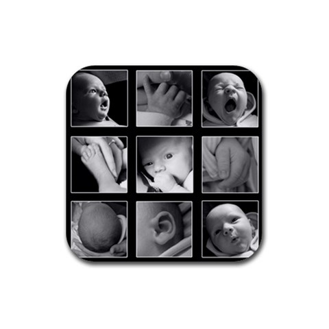 Hayden Baby Coasters By Jay Page   Rubber Coaster (square)   Zxhdq1p1ug9g   Www Artscow Com Front