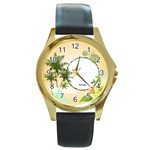 holiday - Round Gold Metal Watch