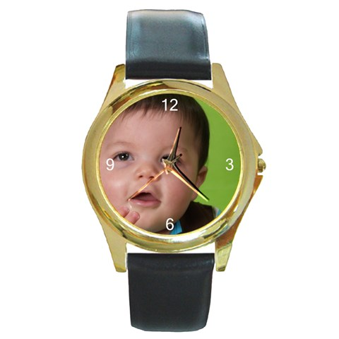 By Debra S  Painter   Round Gold Metal Watch   Aq10rhcltgkn   Www Artscow Com Front