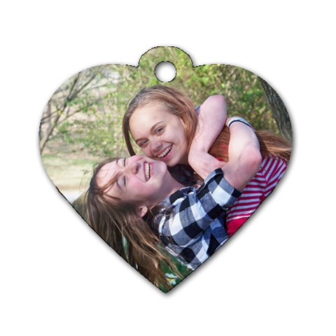 Lexi & Haylee  By Melissa Maloney   Dog Tag Heart (one Side)   Oozrhvbnfdhm   Www Artscow Com Front