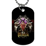 horde - Dog Tag (One Side)