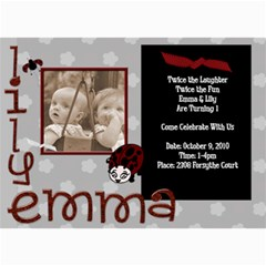 Lil And Em By Laureen   5  X 7  Photo Cards   Nz9duzpjh0fy   Www Artscow Com 7 x5 Photo Card - 5