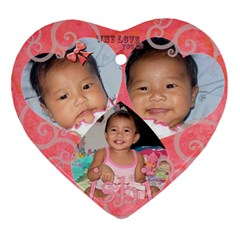 My Princess Ishi By Jes   Heart Ornament (two Sides)   O3tr4c4lbpsl   Www Artscow Com Back