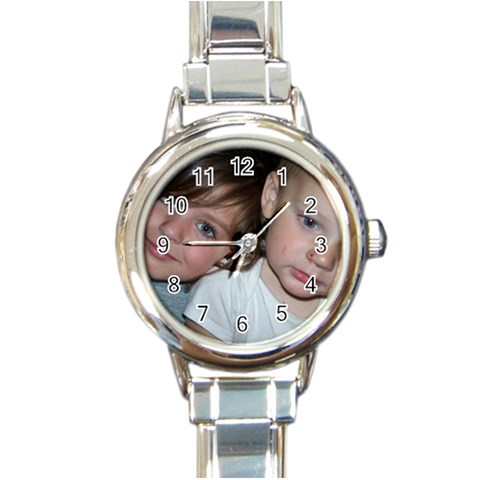 A Watch By Michelle Johnson   Round Italian Charm Watch   5dt1enja7830   Www Artscow Com Front