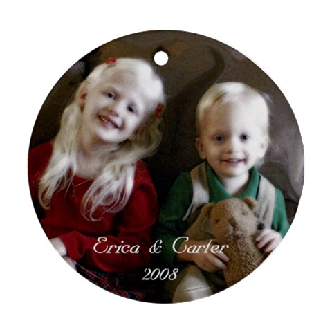 Erica N Carter Ornament By Heidi Broecker   Ornament (round)   Wll6it8d4eto   Www Artscow Com Front