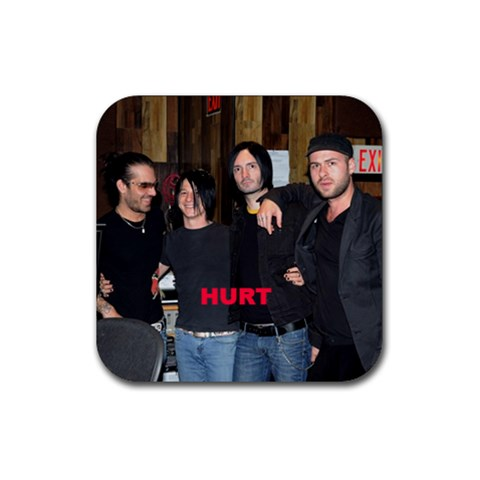 Hurt Guys! By Coon   Rubber Coaster (square)   021pi1lc27dc   Www Artscow Com Front