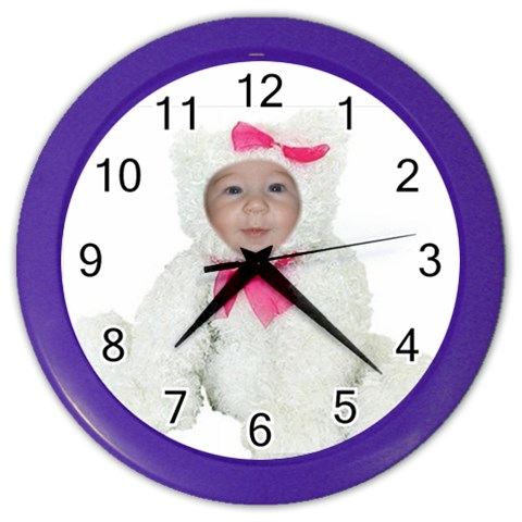 Avery By Pat   Color Wall Clock   M3zybawziv9h   Www Artscow Com Front
