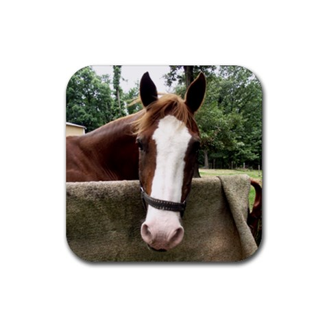 Horse Coaster By Jessica   Rubber Coaster (square)   4hispsdmohv4   Www Artscow Com Front