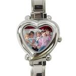 heart watch - Heart Italian Charm Watch