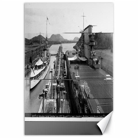 Canvas Panama Canal By Sweetroselief   Canvas 24  X 36    Xqtxrdb2bmss   Www Artscow Com 36 x24 Canvas - 1